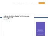 A Step-By-Step Guide To Mobile App Development
