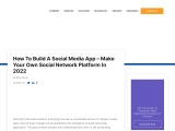 How To Build A Social Media App – Make Your Own Social Network Platform In 2021