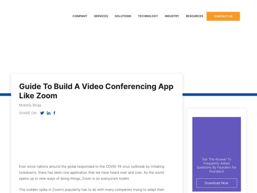 Guide To Build A Video Conferencing App Like Zoom