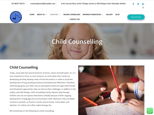 Child Counselling and Child Psychologists in Navi Mumbai