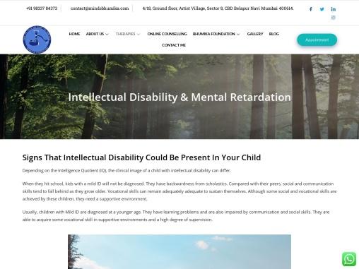 Intellectual Disability- Mental Retardation in Navi Mumbai