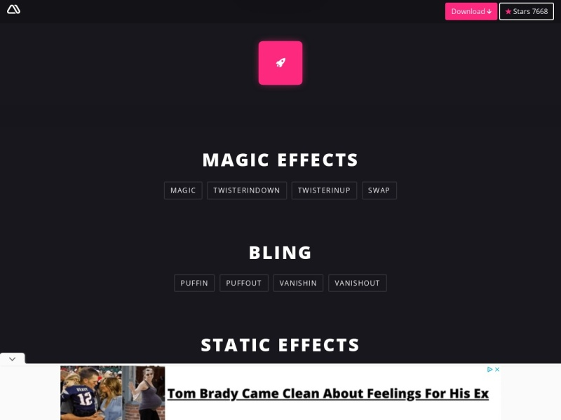 【CSSアニメーション】Magic Animations CSS3