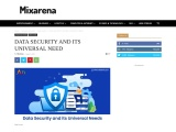 DATA SECURITY AND ITS UNIVERSAL NEED