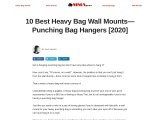 10 Best Heavy Bag Wall Mounts That Are Cheap [2020]