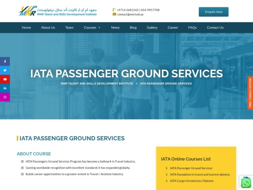 Passenger ground services courses in uae