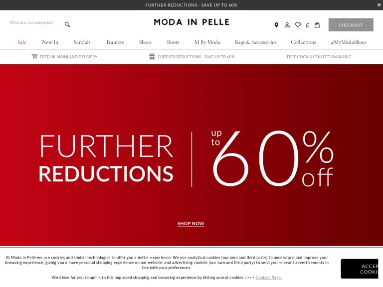 Moda in Pelle Discount Codes Tested & Working screenshot