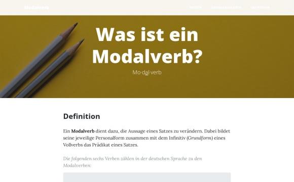 Modalverben | Was ist ein Modalverb?