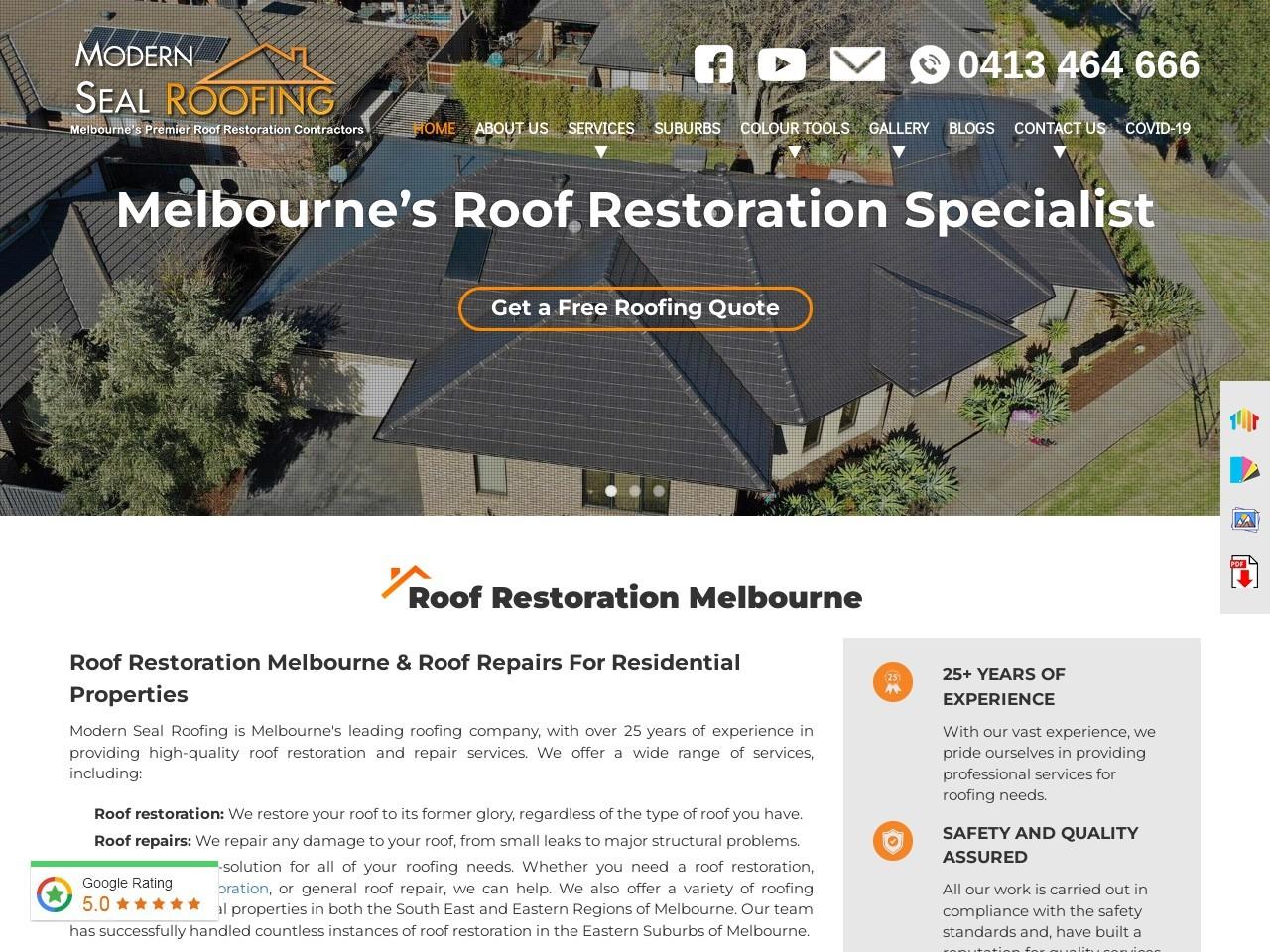 Roof Restoration in Dingley Village
