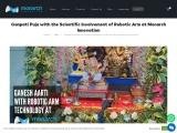 Ganpati Puja with the Scientific Involvement of Robotic Arm at Monarch Innovation