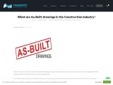 What are As-Built drawings in the Construction Industry?