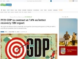 FY21 GDP to contract at 7.4% on better recovery: SBI report