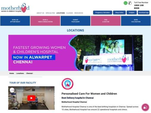 Best Maternity Hospital in Chennai   Children Hospitals Chennai   Motherhood India