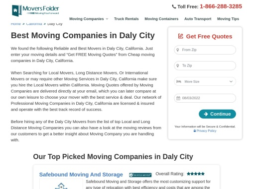 Movers in Daly City: Best Moving Companies in Daly City