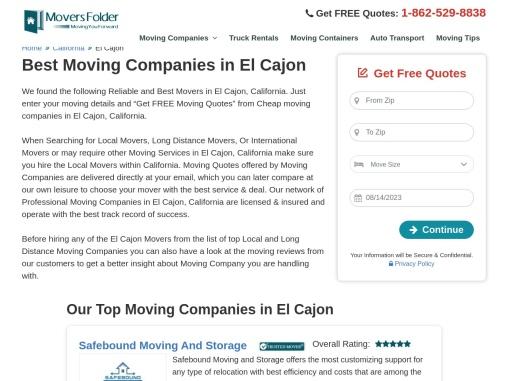 Movers in El Cajon: Best Moving Companies in El Cajon