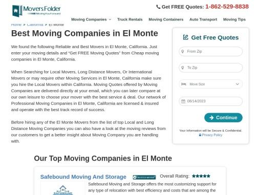 Movers in El Monte: Best Moving Companies in El Monte