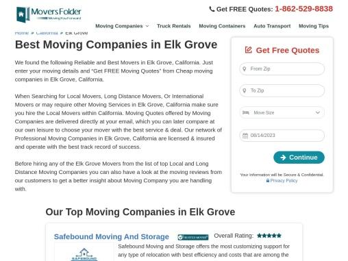 Movers in Elk Grove: Best Moving Companies in Elk Grove