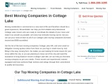 Cottage Lake Movers for Local Or Long Distance Moving Needs