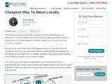 Cheapest Way to Move Locally | Moversfolder.com