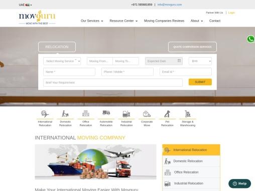 International Moving Companies in Dubai UAE