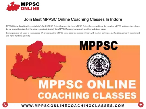 Best MPPSC Online Coaching Classes in Indore study from MPPSC Toppers