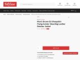 Men's Brown B3 Shearling Sheepskin Flying Aviator Leather Jacket