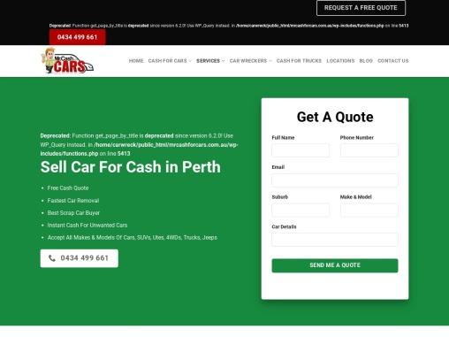 Sell Car For Cash Perth   mrcashforcats