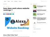how does work alexa website rankings