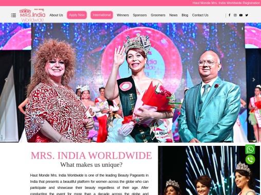 Mrs India Contest – Fashion Show