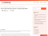 How to Open NSF File in Outlook- A Step by Step Guide