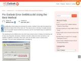 Fix Outlook Error 0x800ccc0d Using the Best Method