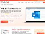 Remove PST file password from encrypted files