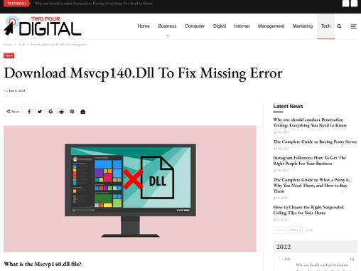 Do you want to know about Msvcp140.dll Download