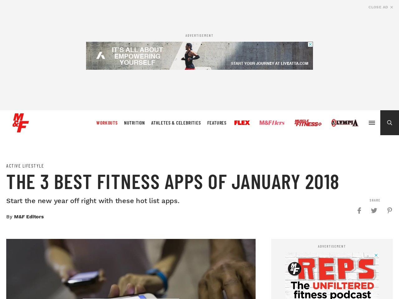 3 Best Fitness Apps of January 2018