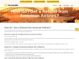 How can I get a refund on American Airlines Flight Ticket?