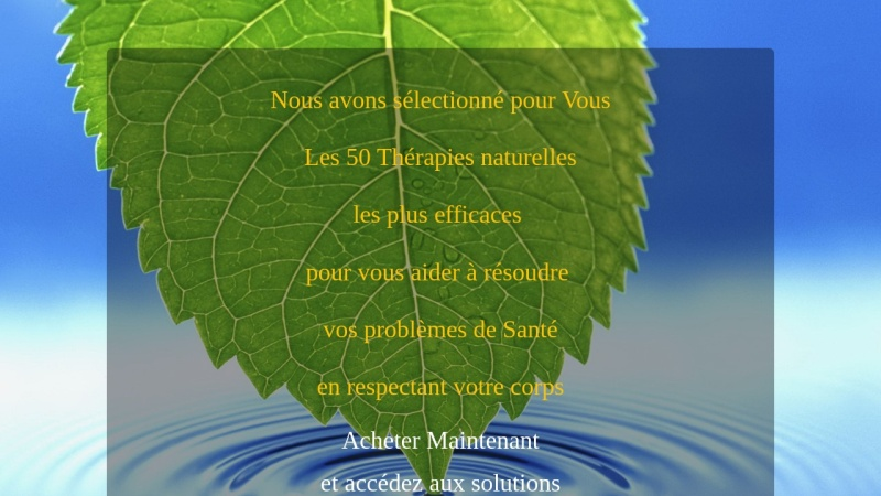 50 therapies remarquables