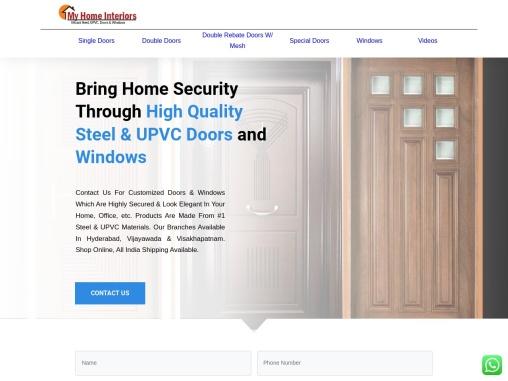 Steel Metal Doors in Vijayawada   Steel Windows   UPVC Doors Windows