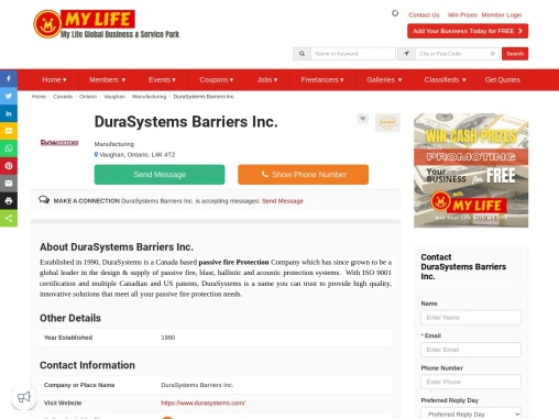 DuraSteel Panel – Fire protection system
