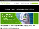 How To Get Medical Marijuana In California