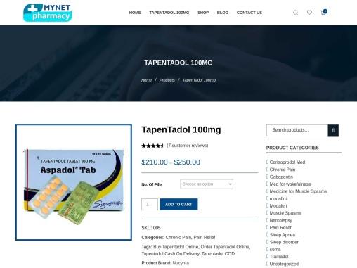 Order TapenTadol 100mg | Mynetpharmacy