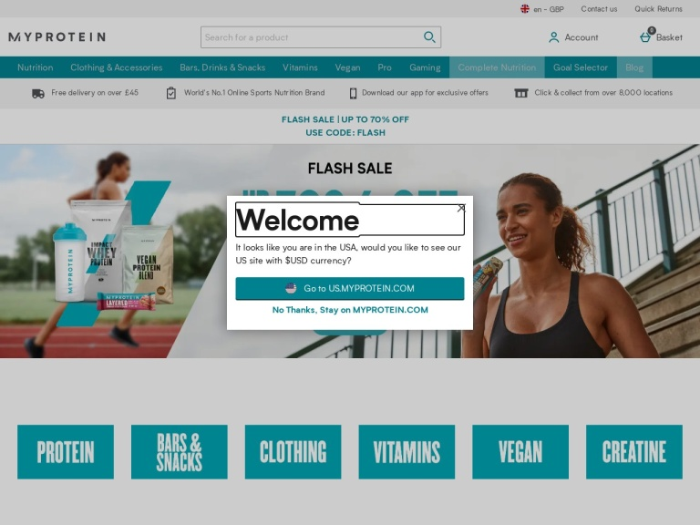 Myprotein Newsletter Deals screenshot