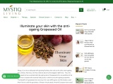 Illuminate your skin with the anti-ageing Grapeseed Oil