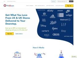MyUS.com screenshot