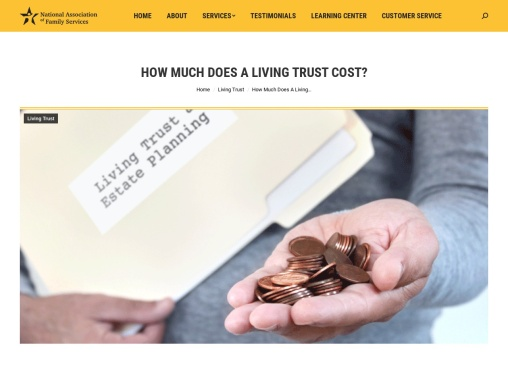 How Much Does A Living Trust Cost? – National Association of Family Services