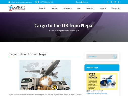 Cargo From Nepal to united kingdom