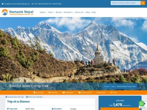 Everest Base Camp Trek | EBC Trek 12 days Complete Guide