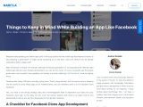 Things to Keep in Mind While Building an App Like Facebook