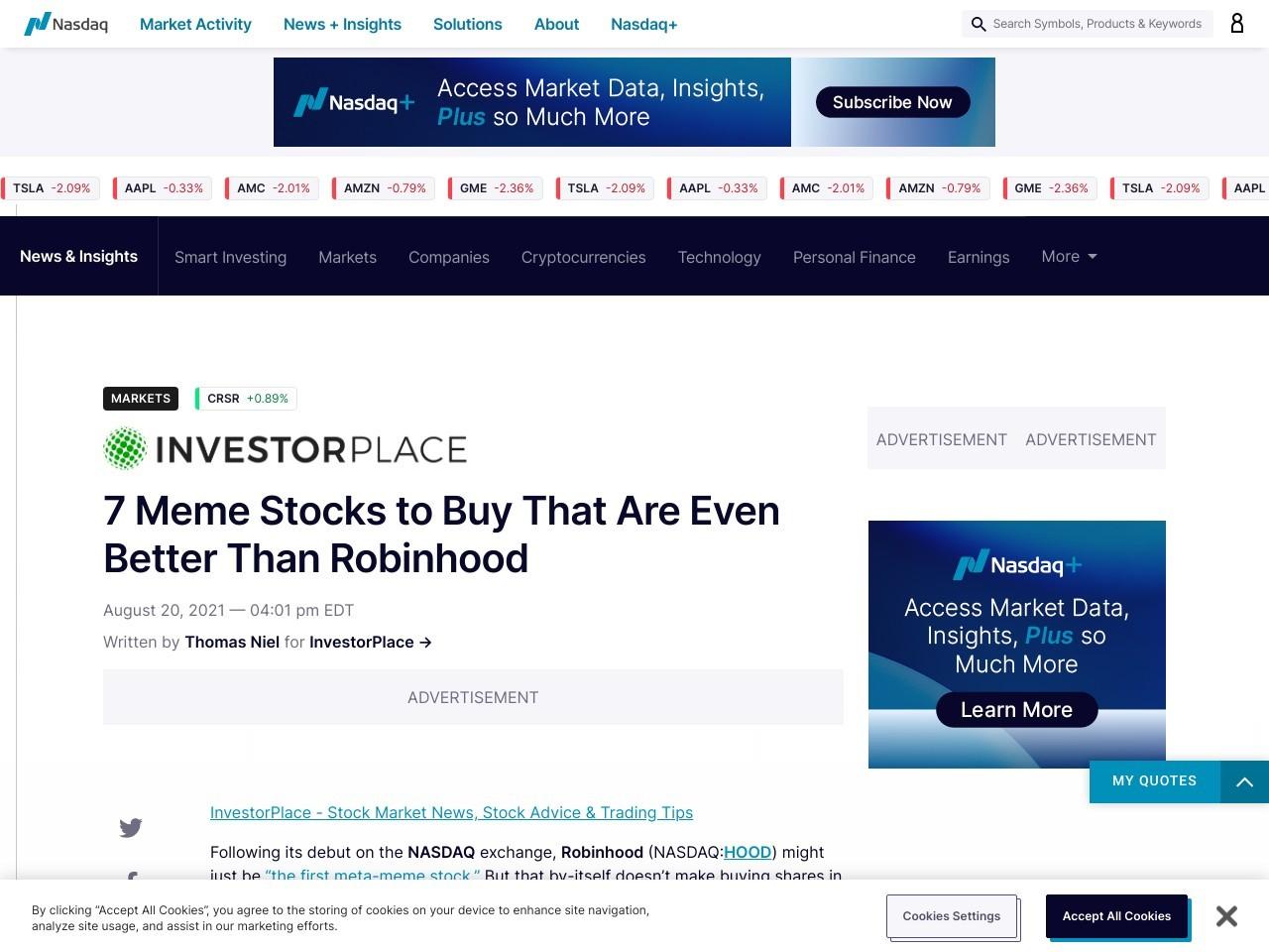 7 Meme Stocks to Buy That Are Even Better Than Robinhood – Nasdaq
