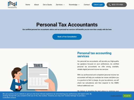 Personal tax services by Naseems Accountants