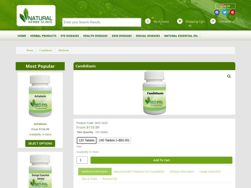 Herbal Treatment for Candidiasis
