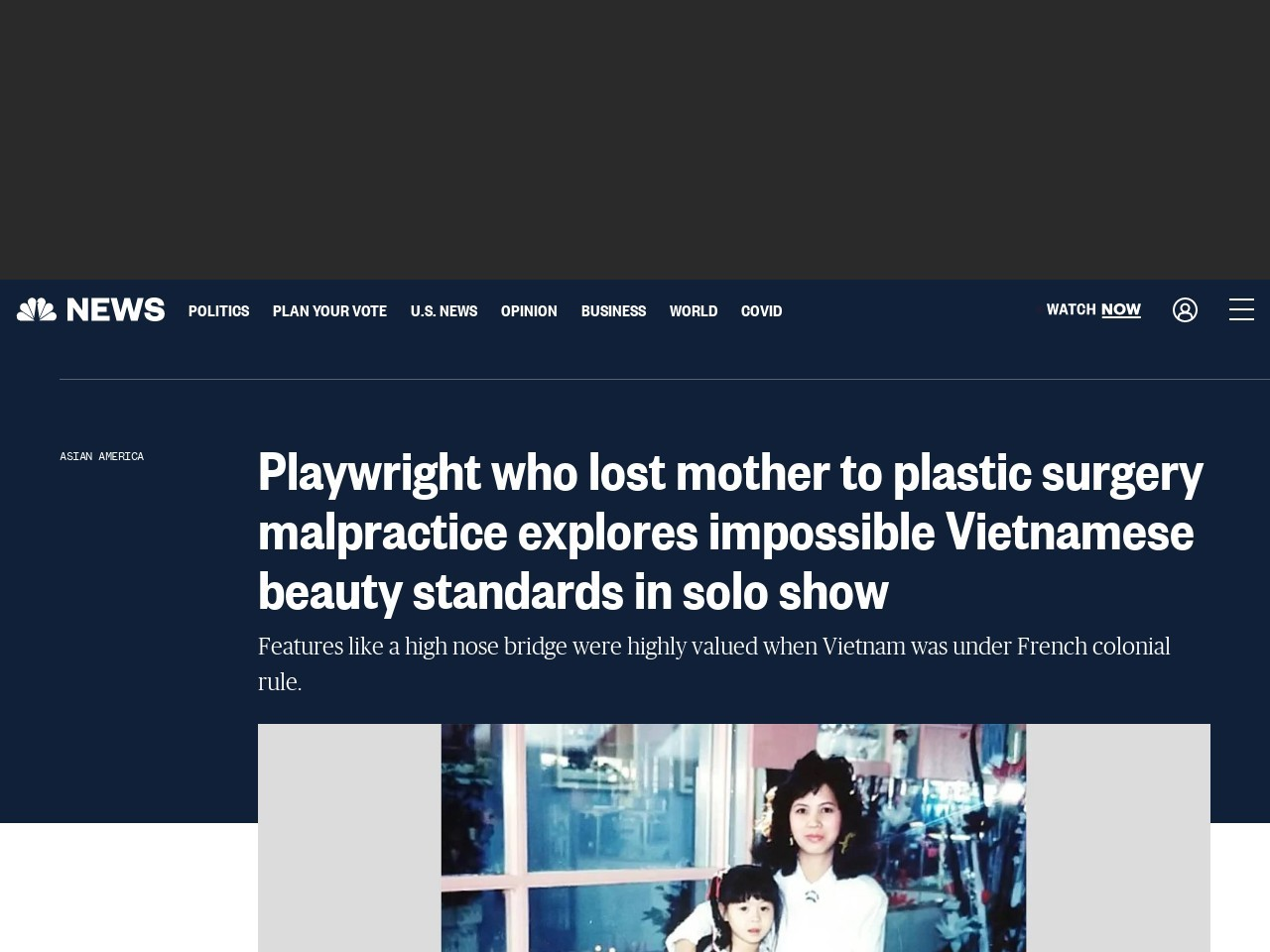 Playwright who lost mother to plastic surgery malpractice explores impossible Vietnamese beauty…